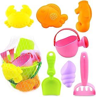 Shindel 沙滩玩具套装包括耙子和铲子玩具,多色