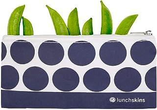 Lunchskins Zippered Bag, Small, Navy Dot
