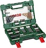 Bosch 博世 V系列 钛合金钻头9件套(用于木材,石材和金属,包括棘轮螺丝刀和磁棒,钻孔和拧紧工具配件)