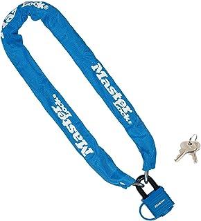 Master Lock 带挂锁自行车链锁 [钥匙] [90 厘米链] [蓝色] 8390EURDPROCOLB - 非常适合自行车、电动自行车、山地自行车、公路自行车、折叠自行车