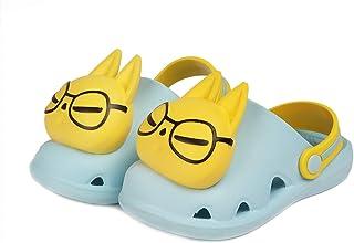 Piqubidu 儿童男孩女孩可爱卡通木屐凉鞋幼儿轻便一脚蹬蓝色8.5-9.5 幼儿