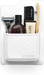 硅胶洗漱用品收纳袋 - 防水牙刷架/剃须刀架,适用于小型洗漱用品。 专为淋浴和浴室设计。 采用硅胶握把技术 - 可重复使用 白色 unknown