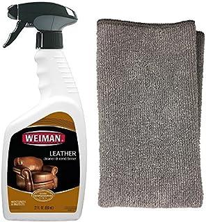 Weiman 皮革清洁剂和抛光剂适用于家具和汽车 - *清洁和护理汽车座椅、鞋子、沙发等 - 22 液体盎司