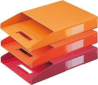 普乐士 数码彩色纸盒子弹簧 盒子弹力 3双装 規格:A4 本体サイズ:283×7×374(mm) 温馨色调