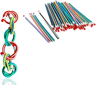 """Yueton 多彩魔法柔韧可弯曲柔软铅笔带橡皮擦写儿童写作礼物(寄送颜色随机) 18cm/7.09"""" 多种颜色"""