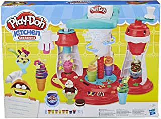 Play-Doh 培乐多 Kitchen Creations Ultimate螺旋形冰淇淋机玩具套装,提供8种颜色