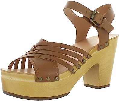 Frye and Co. 女式 Greta 编织洞跟凉鞋