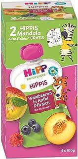 HiPP 野生浆果苹果-桃子 - Thilo 老虎,4件装(4 x 100克)