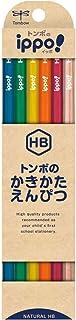 Tombow 铅笔 ippo! 绘画铅笔 HB 自然色 GB-KNN04