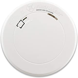 First Alert PRC710 10-Year Combination Carbon Monoxide and Photoelectric Smoke Detector, Slim Round
