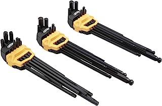 Mount 27 件超长臂球端六角扳手套装,专业球头内六角扳手,Cr-V 钢,便携式驾驶工具套件,带铰链盒,用于家庭维护,车辆维修,公制 / SAE / 梅花。