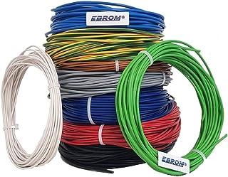 线芯导线 - 单线灵活 - PVC 导线 - H07V-K 1.5 mm2 - 颜色:棕色 10m/15m/20m/25m/30m/35m/40m/45m/50m/55m/60m可自由选择 棕色 20 m