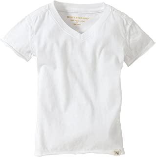 Burt's Bees 婴儿纯色短袖反转 seam V 领下 T 恤*** 有机棉
