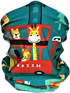 儿童面罩头巾围巾巴拉克拉法帽颈部绑腿长颈鹿适用于骑行徒步运动户外,可水洗,可重复使用
