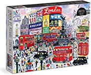 Galison Michael Storrings 1000 片伦敦成人拼图 – 插图艺术拼图 带伦敦街头场景 – 有趣的室内活动拼图 多色