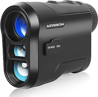 AIRSSON 高尔夫测距仪激光可充电:650 码测距仪,带坡度,6 倍放大范围探针距离测距仪,用于狩猎和高尔夫