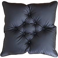 日本制 垫子 坐垫 无绳 彩色皮革 黑色 1036-z-bk