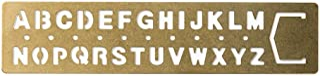 MIDORI 黃銅制 涂鴉模板式 書簽 (字母圖案) 42169006