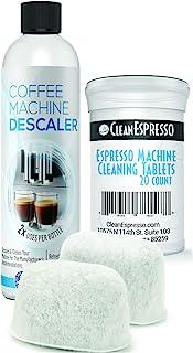 Breville 咖啡清洁套装 - 20 个 Espresso 咖啡机清洁片 + 2 个滤水器 + 2 个滤水器 + 2 个除垢液 - 适合所有 Breville 咖啡机型号 - CleanEspresso 出品