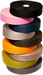 轻质聚丙烯织带,1 英寸,10-25-50 码,超过 10 种颜色 | Polypro(涤纶)绑带适用于户外装备修理、工艺品、项圈、包、货物、挂脖、牵引绳 - Matador 实用物品 1英寸 x 10 码 紫红色 STR12-1-10-L