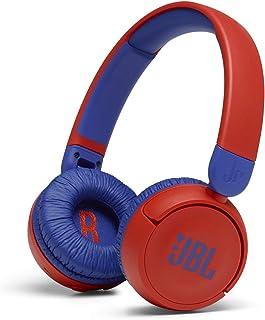 JBL Jr310 BT 入耳式儿童耳机 红色-蓝色 - 无线蓝牙耳机 带耳机和遥控器 - 非常适合学校和休闲