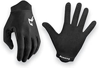 Roaming Mountain 自行车手套适合脏自行车 BMX 越野交叉赛车改善控制和杠铃感 - 3D 航空公司轻质夏季全指自行车手套公路自行车手套触摸屏手套 男女适用
