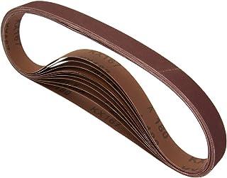 POWERTEC 11127-1 1 x 30 英寸(约 3.8 x 76.2 厘米)砂带  氧化铝砂皮带组合  3 件 60 80 120 150 240 400 砂纸   优质砂纸 - 18 包