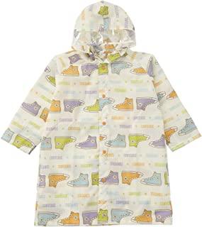 Ogawa 小川 儿童雨衣 120cm CONVERSE 条纹鞋图案 橘色 背包顶部可调节 背包款式收纳袋 20112