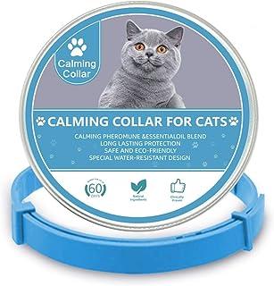 猫咪舒缓项圈,猫咪和小猫舒缓项圈,可缓解*或压力,可调节防水猫信息素舒缓扩散器,适合小型、中型和大型猫(15 英寸)