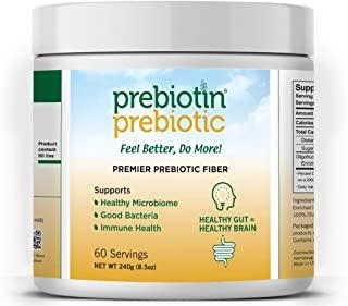 Prebiotin Prebiotic 纤维粉末 全系列短链和长链益生元 用于整个结肠的益生活性菌生长 - 8.5盎司(240g)