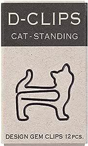MIDORI 新版D-Clipsmini盒装(12枚)Ⅱ 站着的猫 回形针
