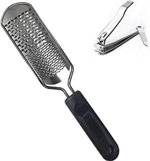 *锉,HANMEI *磨皮器去除器,死皮和无声锉刀,去角质修脚护理工具(1 把*剪 + 1 英尺锉)。