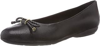 Geox 女士 Annytah 6 芭蕾平底鞋圆头平底鞋弓足弓支撑垫