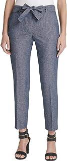 DKNY 女式 Essex 脚踝系带紧身长裤