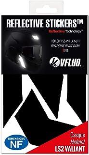 VFLUO VALIANT 复古反光 5 张贴纸套件,适用于 LS2 VALIANT 和适合所有头盔,3M 技术 黑色 RCblackVALIANT1