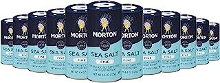 Morton 通用海盐,细,4.4盎司,125克(12包)