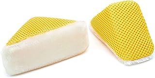 磨砂忍者 - 楔形磨砂膏(12.70 厘米 x 6.35 厘米 x 5.08 厘米)白色/金色 - 2 件装