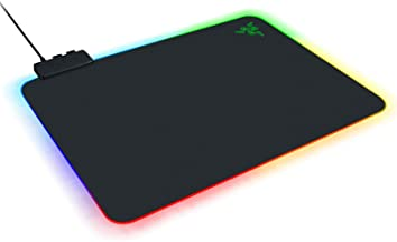 Razer Firefly 硬 V2 RGB 游戏鼠标垫:可定制等离子照明 - 内置电缆管理 - 平衡控制和速度 - 防滑橡胶底