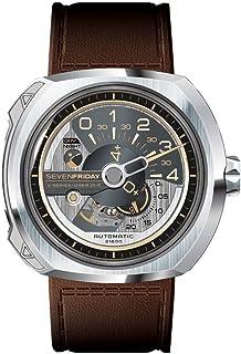 SEVENFRIDAY 男式瑞士石英不锈钢手表,颜色:白色(型号:V2-01)