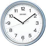 Seiko 精工 挂钟 淡蓝珍珠 直径27.5x4.7cm 电波 模拟 KX252L