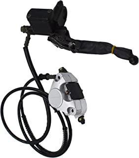 munirater 液压后盘式制动卡钳系统带刹车片替换件适用于 150cc 250cc 四轮越野车 ATV