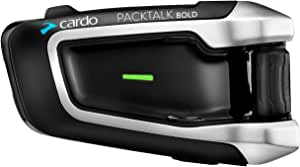 Cardo DMC/蓝牙 PACKTALK BOLD 摩托车通信和娱乐系统,带自然语音控制。 Sound by JBL. 用于连接 2 至 15 个驾驶员(单个包装)(黑色)