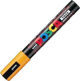 三菱鉛筆 水性筆 POSCA 中字 圓芯 山吹色 10支