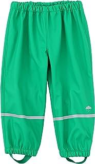 M2C 男孩女孩棉质衬里防水雨裤反光轻便雨衣