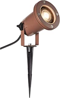 SLV LED 射灯 NAUTILUS XL 带地钉 | 户外灯用于照明花园、露台、植物、道路、池塘 | 室外灯 | IP65、GU10,1.5 米电线带插头,铝制