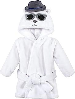 Hudson Baby 中性款婴儿毛绒动物脸浴袍,英俊熊,0-9 个月