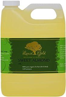 32 液体盎司优质液体金甜杏仁油纯有机皮肤*按摩护理