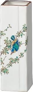 MARUSAN 宫本 花瓶装饰瓶 九谷烧 6号 适合单支插花 花鸟 AP4-1002