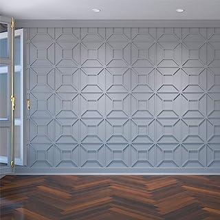 Ekena Millwork WALP16X16MAR 中号 Marion 装饰品墙板建筑级 PVC,15 3/8 英寸宽 x 15 3/8 英寸高 PVC 中 WALP16X16MAR