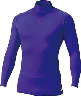 ZETT 棒球 PROSTATUS 物理控制服 少年用 高领 长袖 汗衫 紫色 BPRO800HJ
